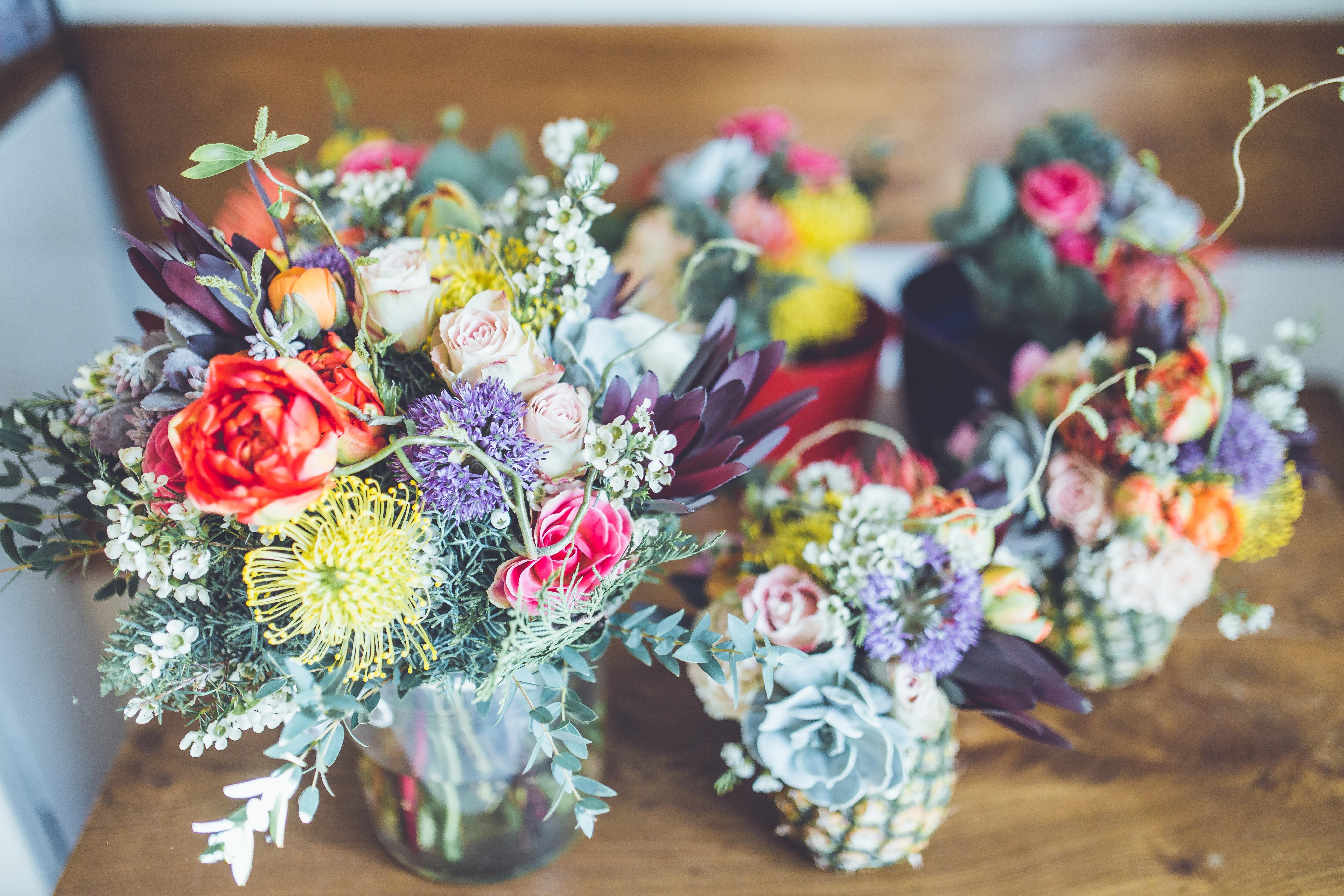 fototapeta bukiet kwiatów
